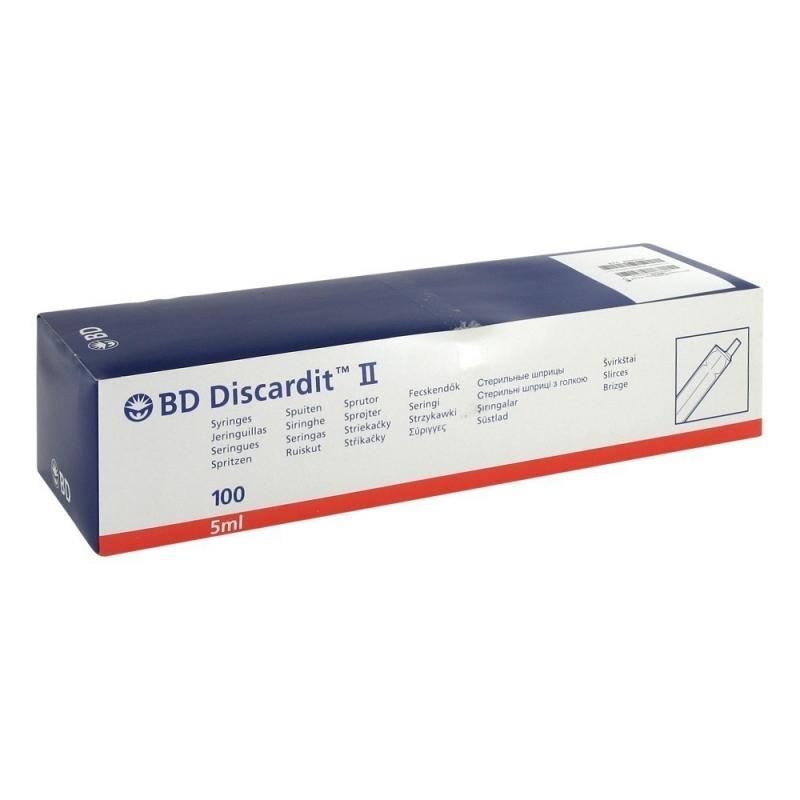 Seringi 5 ml cu ac 22G - BD Discardit - 100 buc
