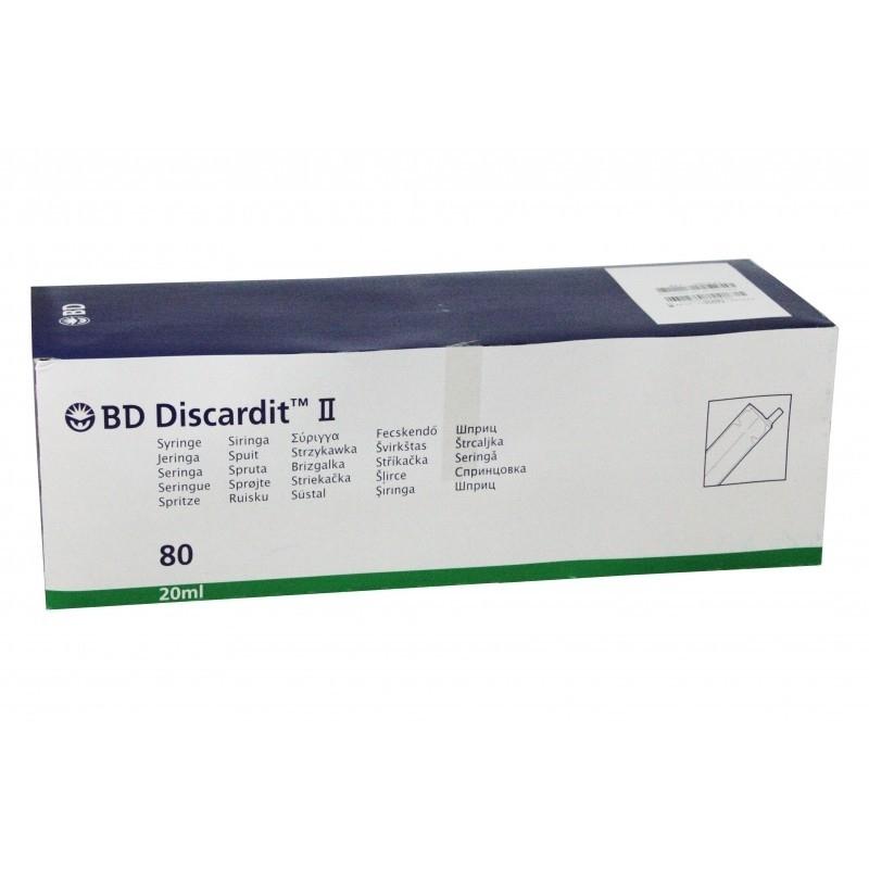 Seringi 20 ml cu ac 21G - BD Discardit - 80 buc