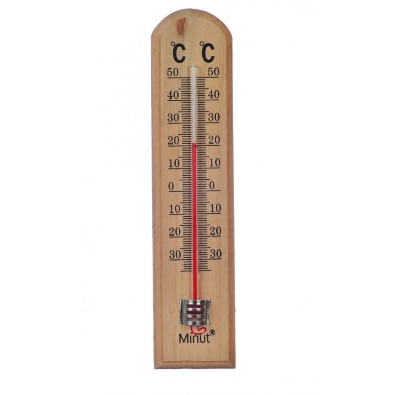 Termometru camera lemn