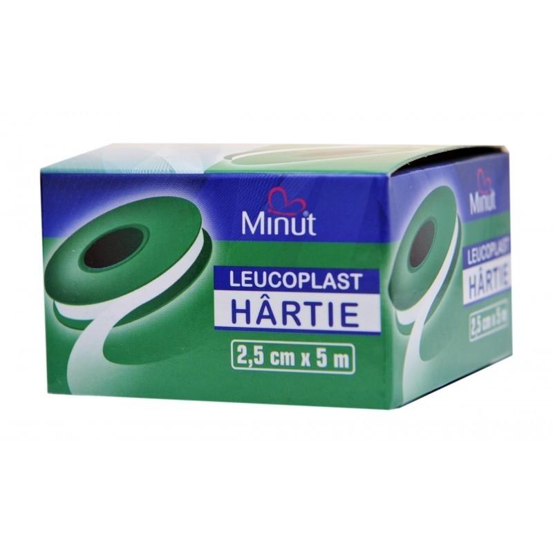 Leucoplast hartie - 2.5 cm x 5 m - MINUT