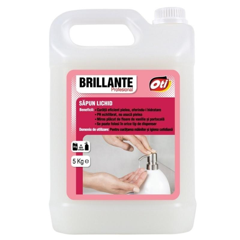 Sapun lichid Brillante, antimicrobian, 5 kg