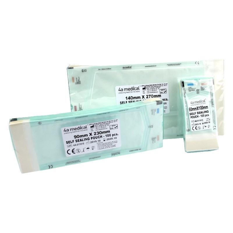Pungi sterilizare autosigilante autoclav - 90 x 250 mm