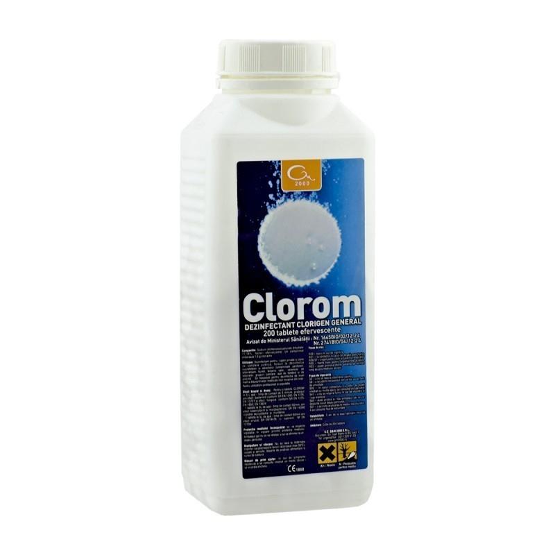 Dezinfectant clorigen CLOROM - 200 Tablete