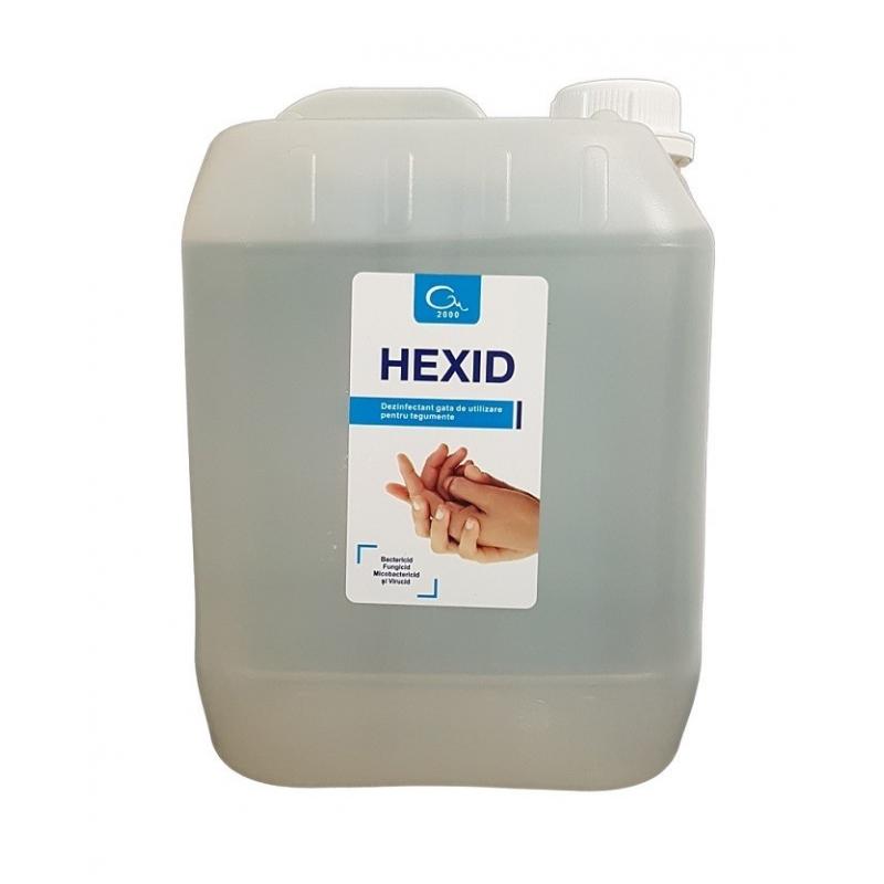 Dezinfectant maini si tegumente HEXID cu alcool - 5 litri