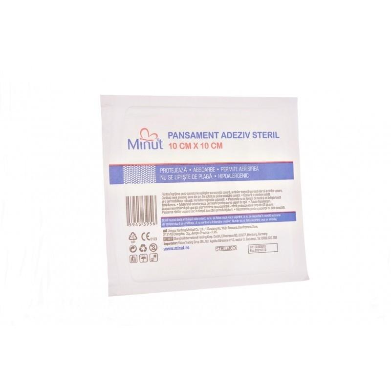 Plasturi sterili Minut Pore 10 x 10 cm