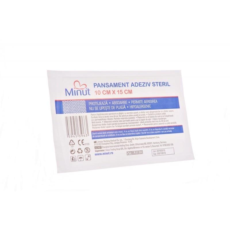 Plasturi sterili Minut Pore 10 x 15 cm