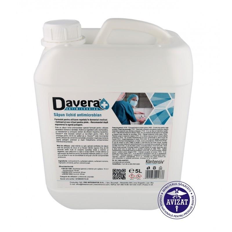 Davera Soap - Sapun lichid antimicrobian - 1 litru