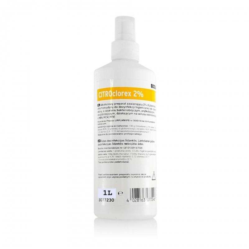 CITROclorex 2% - solutie pentru antisepia pielii - 1 litru