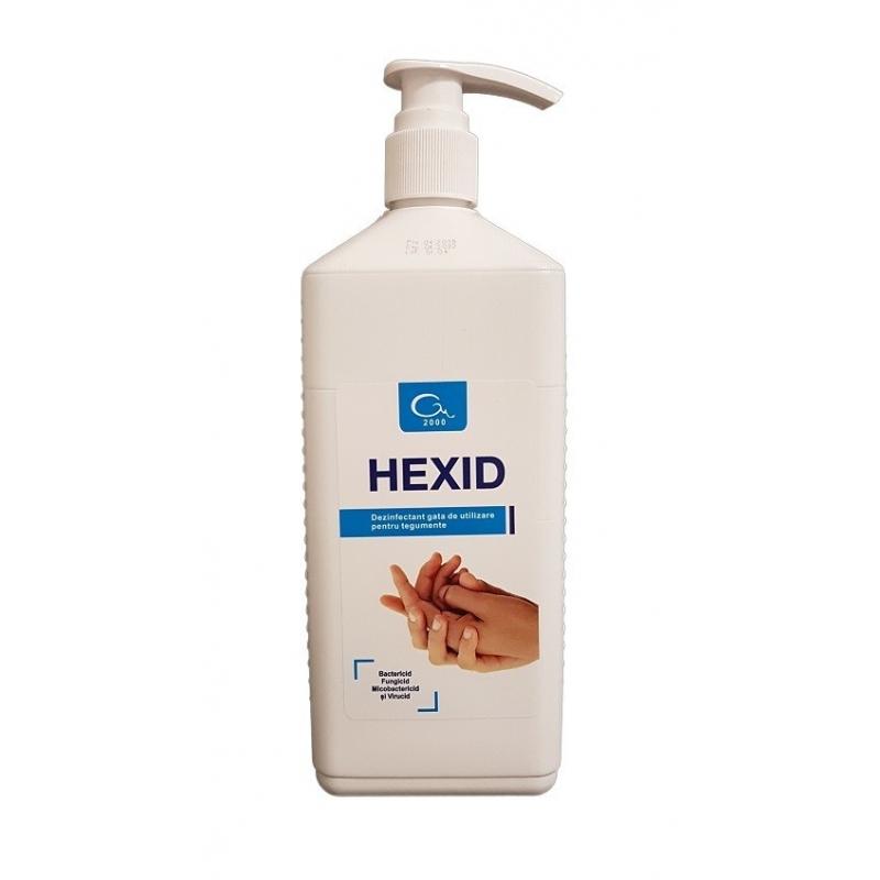 Hexid - Dezinfectant maini si tegumente cu alcool - 1 litru