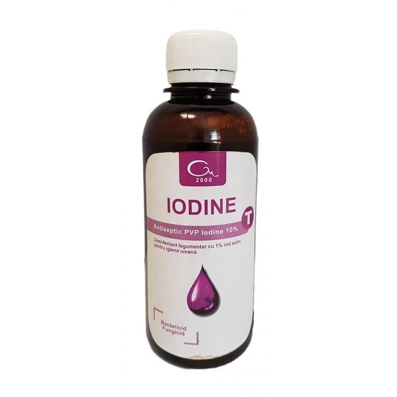 Iodine T - Dezinfectant tegumente pe baza de iod - 200 ml
