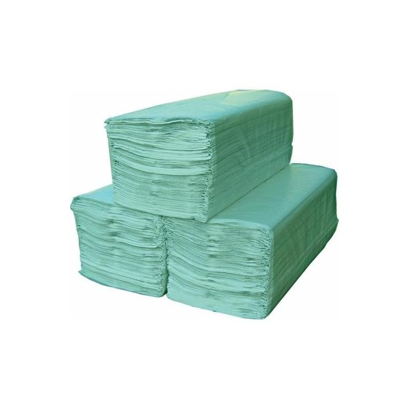 Prosop Hartie Pliat Verde - ECO - 250 buc
