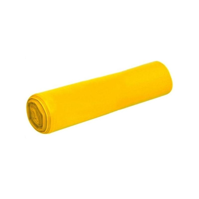 Saci Menaj LDPE - Galbeni - 240 litri - 10 buc