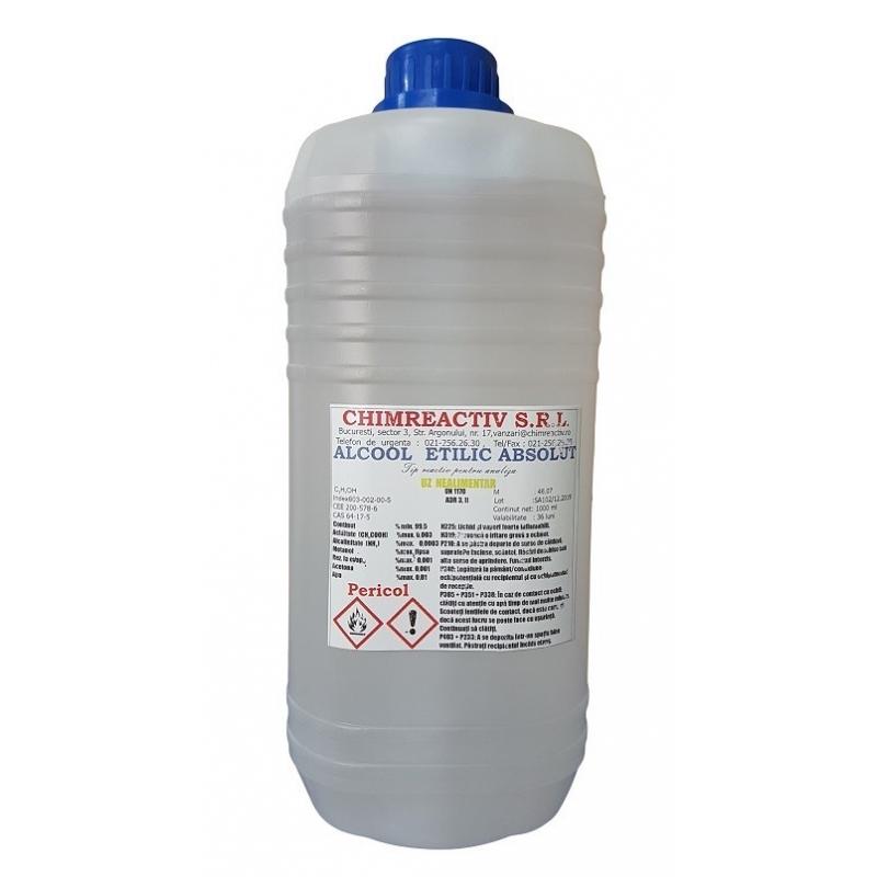 Alcool etilic absolut reactiv pentru laborator