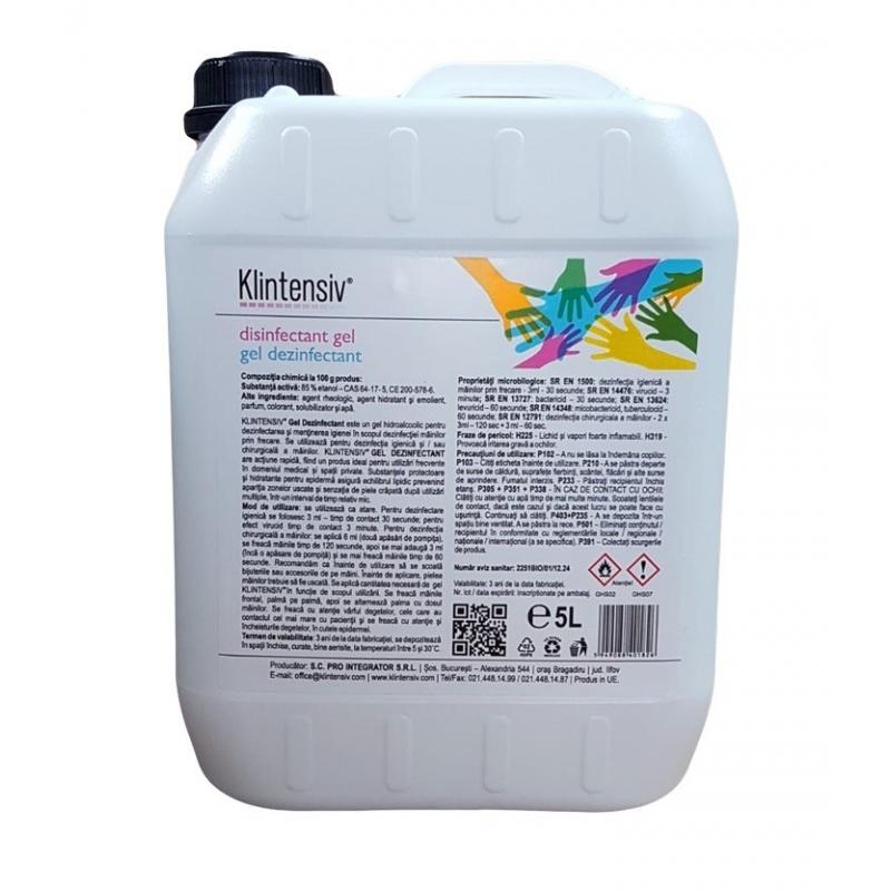 Klintensiv - Gel dezinfectant pentru maini - 5 litri