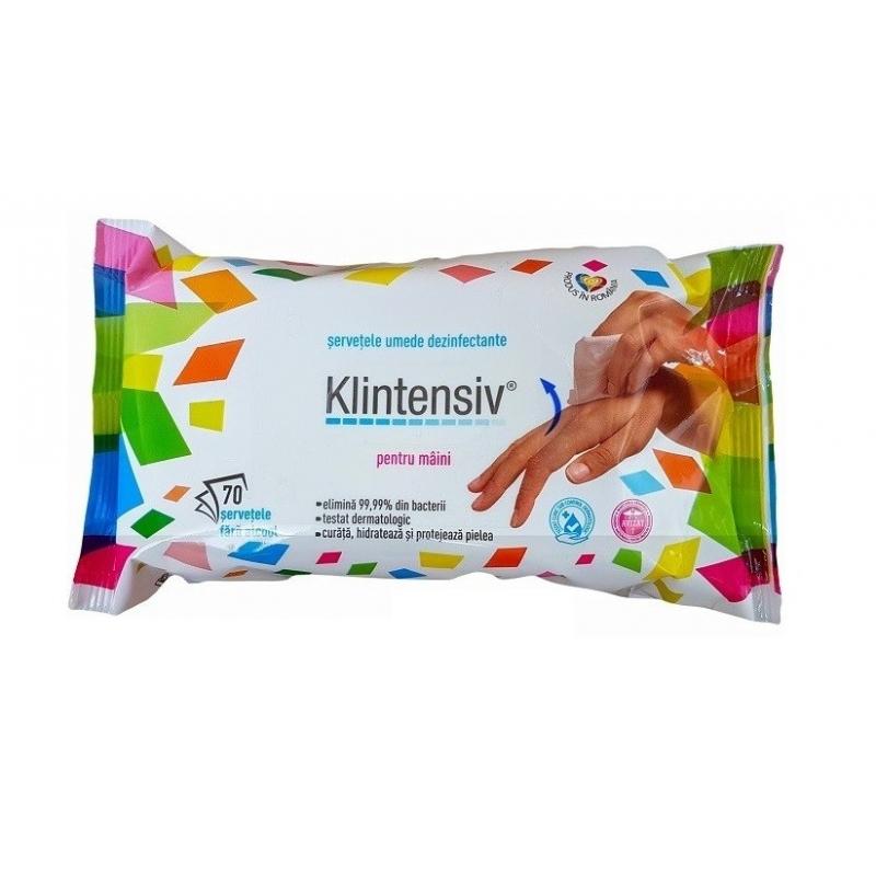 Klintensiv - Servetele dezinfectante pentru maini - 70 buc