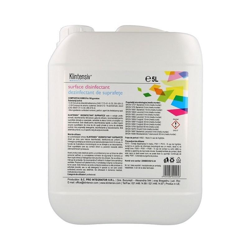 Klintensiv - Dezinfectant suprafete gata de utilizare - 5 litri