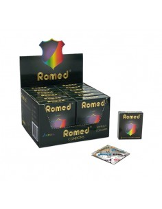 Prezervative lubrifiate colorate - Romed Aurora - 3 buc