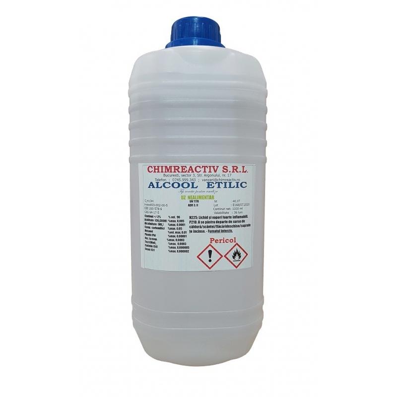 Alcool etilic 96 % PA - 1 litru