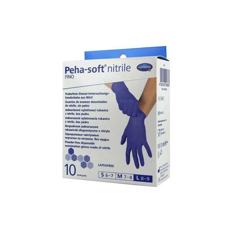 Manusi de examinare nitril albastre Peha Soft - L - 10 buc