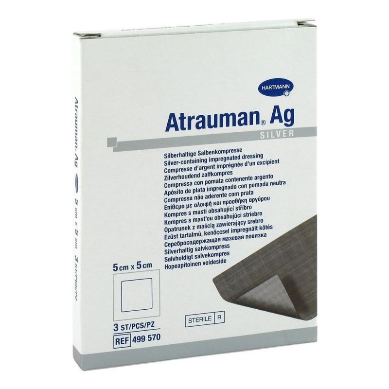 Atrauman AG - Pansament cu argint - 5 x 5 - 10 buc