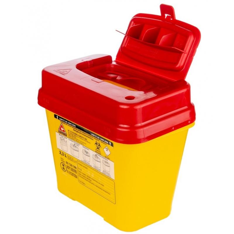 Recipient plastic pentru deseuri intepatoare taietoare - 2.3 litri