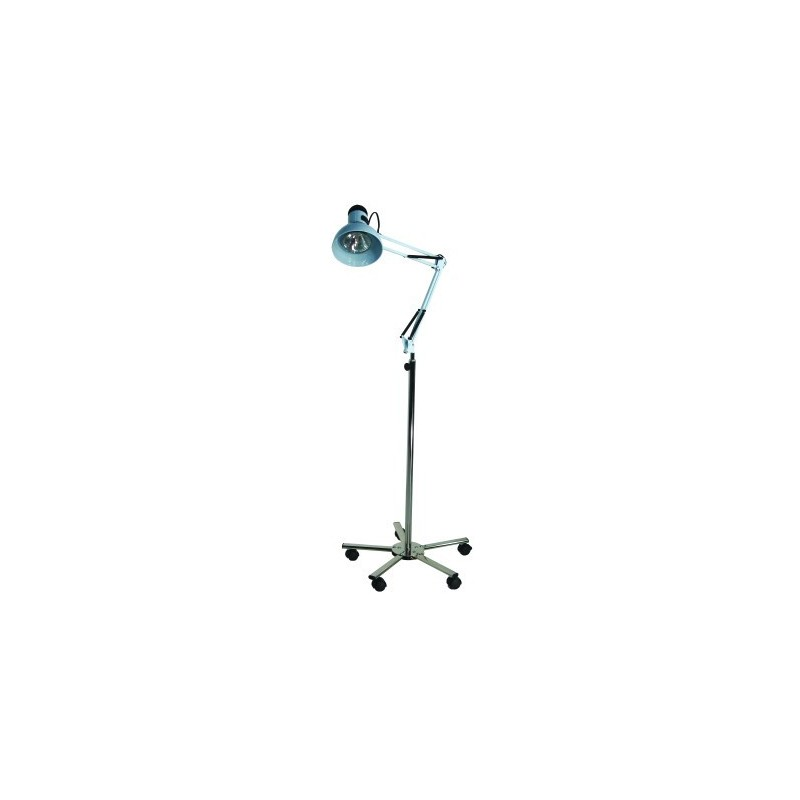 Lampa cu suport cu bec halogen si baza cromata diametru 52