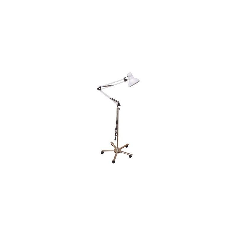 Lampa cu suport cu bec incandescenta cu lumina concentrata, baza cromata