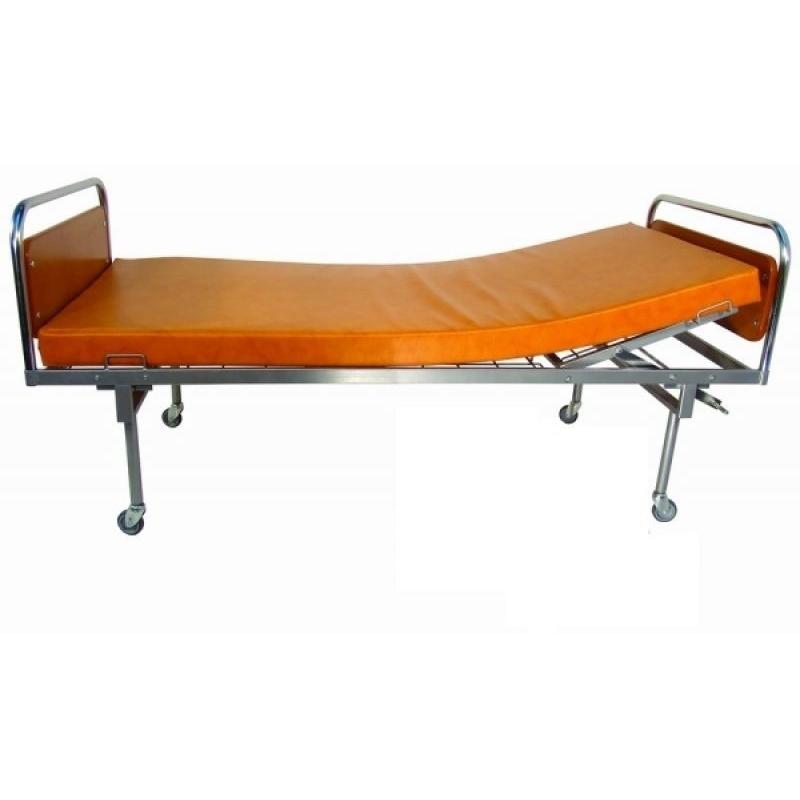 Pat de spital mobil cu sectiunea pentru trunchi si cap, reglabila